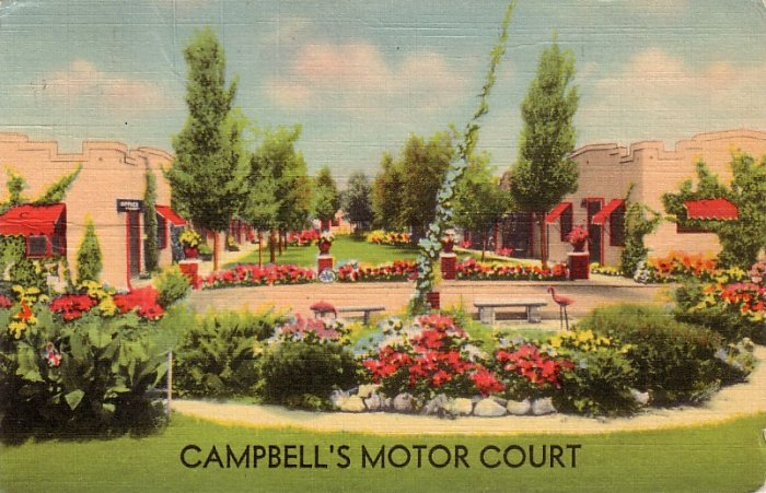 Campbell's Motor Court in North Platte Nebraska NE, MWM Linen Postcard - 4136