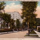 North Street at Delaware Avenue in Buffalo New York NY, 1940 Vintage Postcard - 4171