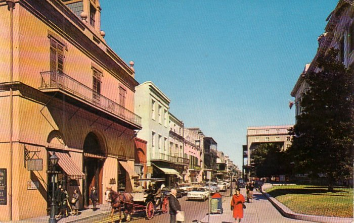 Royal Street in New Orleans Louisiana LA, Chrome Postcard - 4172