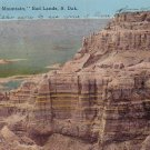 Sheep Mountain in Bad Lands of South Dakota SD, 1912 Vintage Postcard - 4173
