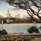 Lake Merritt and View of Oakland California CA, 1920 Vintage Postcard - 4175