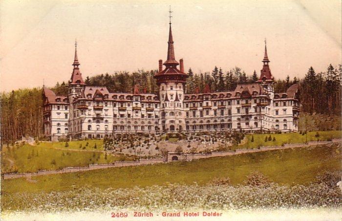 Grand Hotel Doider in Zurich Switzerland Vintage Postcard - 4190