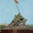 U.S. Marine Corps War Memorial in Arlington Virginia VA, Chrome Postcard - 4194