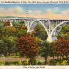 Mendota Bridge at Fort Snelling Minnesota MN 1935 Curt Teich Linen Postcard - 4210