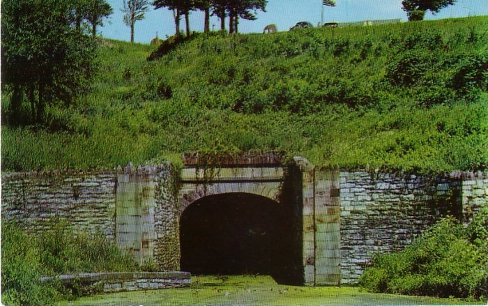Oldest Tunnel in United States at Lebanon Pennsylvania PA, Chrome Postcard - 4213