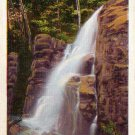 Falls in the Flume at Franconia Notch in White Mountains New Hampshire NH Linen Postcard - 4251