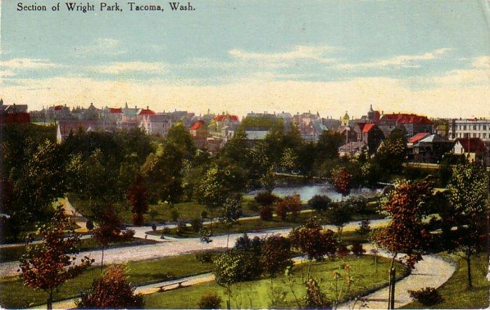 Wright Park in Tacoma Washington WA, Vintage Postcard - 4266