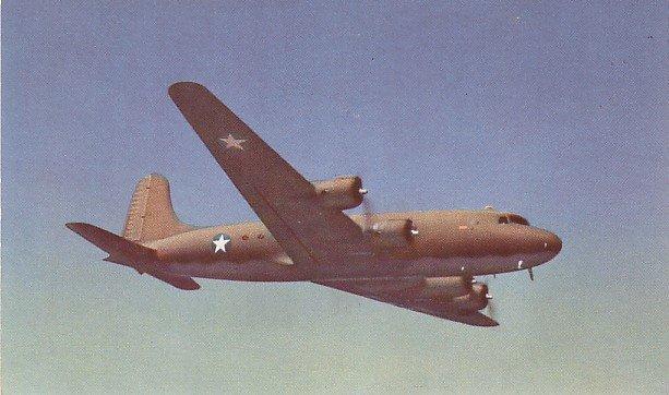 Douglas C 54 Skymaster Transport Airplane, Vintage Postcard - 001 NJ