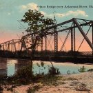 Frisco Bridge over Arkansas River in Muskogee Oklahoma OK, 1915 Vintage Postcard - 021 NJ