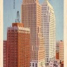 Skyscrapers in Oklahoma City OK, 1932 Curt Teich Linen Postcard - 034 NJ
