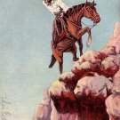 L.H. Dude Larsen Artist Signed 1939 Trail of Life Vintage Postcard - 042 NJ