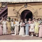 Children's Mardi Gras Carnival Pageant in New Orleans Louisiana LA, 1938 Linen Postcard - 044 NJ