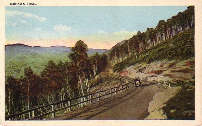 Scene on the Mohawk Trail in Massachusetts MA Vintage Postcard - 4277