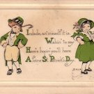 St. Patrick's Day Greetings, 1916 Vintage Postcard - 4297