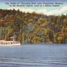 Sadie H Excursion Boat on Lake Tanneycomo at Branson Missouri MO, 1947 Curt Teich Postcard - 4318