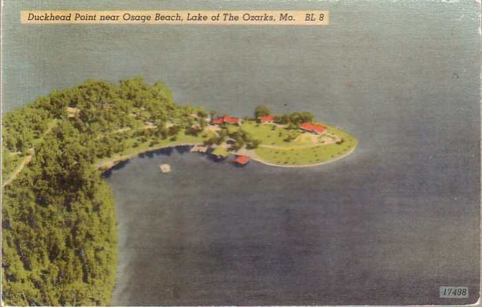 Duckhead Point near Osage Beach Missouri MO 1959 Linen Postcard - 4320