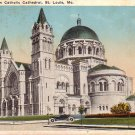 New Catholic Cathedral in St. Louis Missouri MO, Vintage Postcard - 4323