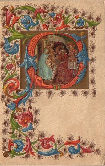 Christ's Nativity Scene, Christmas Vintage Postcard - 4346