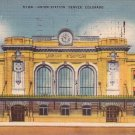 Union Railroad Station in Denver Colorado, 1953 Linen Postcard - 4417