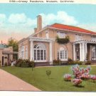 Cressy Residence in Modesto California CA, Vintage Postcard - 4459