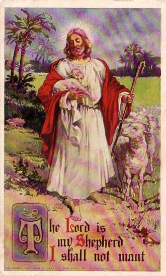 The Lord is my Shepherd, 1907 Vintage Postcard - 4480