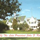 Home of Late President John F. Kennedy Cape Cod Massachusetts MA Chrome Postcard - 4528