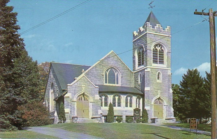 Whitinsville Methodist Church on Linwood Ave. Massachusetts MA Chrome Postcard - 4530