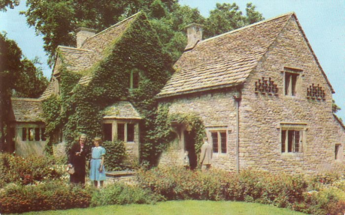 Rose Cottage of Greenfield Village in Dearborn Michigan MI Chrome Postcard - 4533