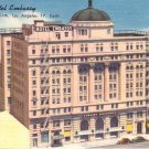 Hotel Embassy at Los Angeles California CA Linen Postcard - 4557