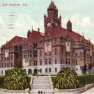 Court House with Flags in Los Angeles California CA 1911 Vintage Postcard - 4559