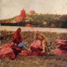 Across the Lake from Island in Peking China 1909 Vintage Postcard - 4564