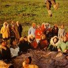 Wien Alaska Airlines Chrome Postcard of Eskimos Blanket Tossing - 4576