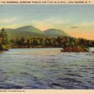 Entrance to Narrows in Lake George New York NY, 1933 Curt Teich Linen Postcard - 4593