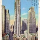 Rockefeller Center in New York City NY 1937 Linen Postcard - 4596