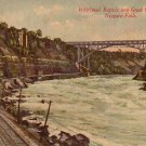 Whirlpool Rapids & Streetcar on Great Gorge Route, Niagara Falls New York NY Vintage Postcard - 4597