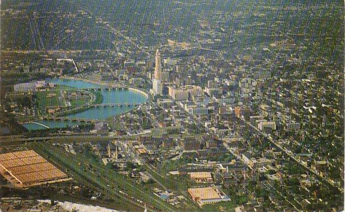 Aerial View of Columbus Ohio OH Chrome Postcard - 4601