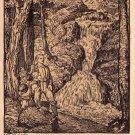 Wandergrup, Waterfall 1912 Michaelis Artist Signed Vintage Postcard - 4618