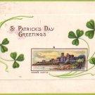 Shane's Castle, St. Patricks Day 1914 Vintage Postcard - 4652