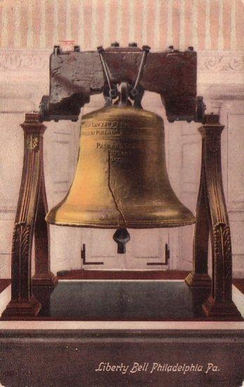 Liberty Bell in Philadelphia Pennsylvania PA, 1909 Vintage Postcard - 4654