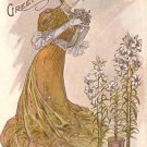 F.C. Lounsbury Artist Signed Easter Greetings 1906 Vintage Postcard - 4657