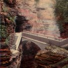 Sentry Bridge at Watkins Glen New York NY 1913 Vintage Postcard - 4709