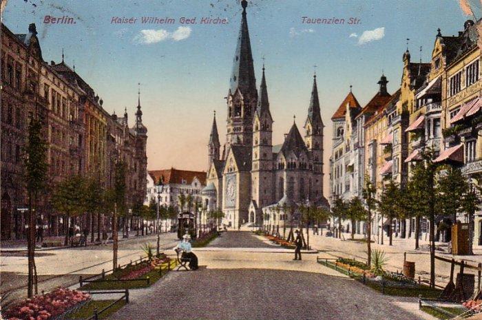 Kaiser-Wilhelm-Gedächtniskirche Church in Berlin Germany 1913 Vintage Postcard - 4718