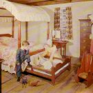Bedroom in Richardson Salt Box House Old Sturbridge Village Massachusetts MA Postcard - 4761