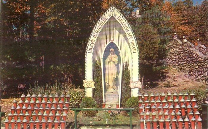 La Salette Shrine in Attleboro Massachusetts MA Chrome Postcard - 4771