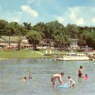 Rockaway Beach on Lake Taneycomo Missouri MO 1955 Curt Teich Chrome Postcard - 4773