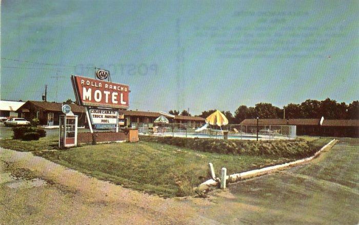 Rolla Rancho Motel in Rolla Missouri MO Chrome MWM Postcard - 4775