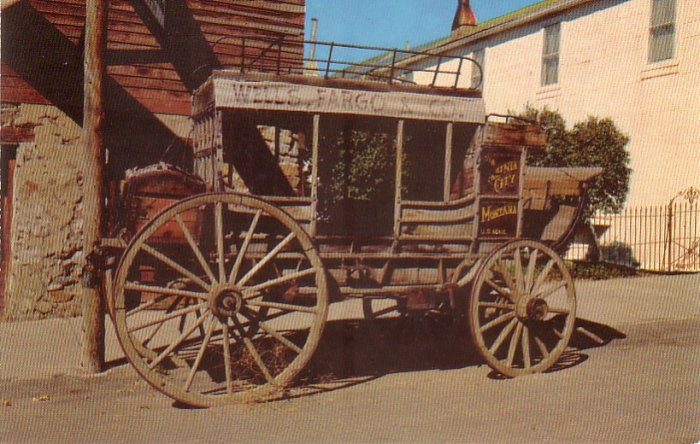 Old Stage Coach in Virginia City, Montana MT Chrome Postcard - 4776