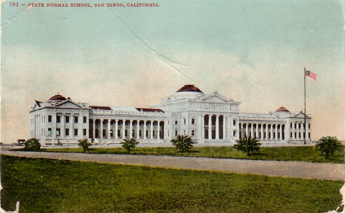 State Normal School San Diego California CA Edward H. Mitchell Vintage Postcard - 4784