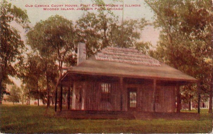 Old Cahoka Court House in Chicago Illinois IL Vintage Postcard - 4794