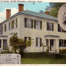 Home of Ralph Waldo Emerson Concord Massachusetts MA Vintage Postcard - 4793